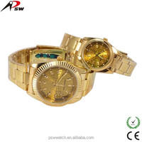 advertising gold wrist watch
