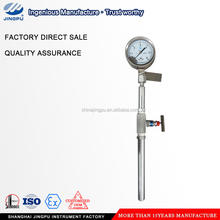 Vaccum gauge low pressure gauge manometer with rigid tube,single way valve/hard tube