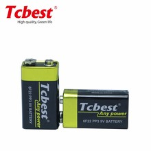 High Quality 9 Volt Battery 6f22