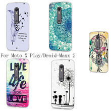 Various pattern Soft Rubber TPU GEL Cover Case For Motorola Droid Maxx 2 / Moto X Play