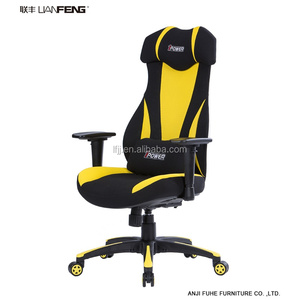 Black Fabric Racing Style Office Computer Lounge Chair