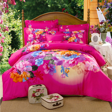 Printed home hotel use 100% best Cotton bedding sets