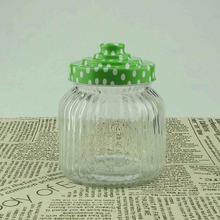 600ml glass food container with mental lid