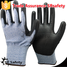 SRSAFETY 13G hand resistant gloves manufacturer in China safety gloves,working place safety equipment