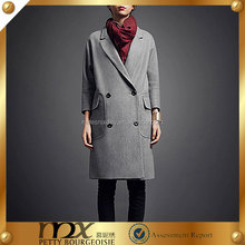 Women's Autumn Winter Long Sleeve Turn-down Collar Double Breasted Loose Coat, Casual Outerwear