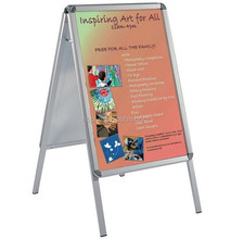 double side snap frame information stand sign board for poster display