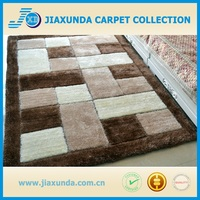 300D solid high end 3D design floor area livingroom decor shaggy carpet