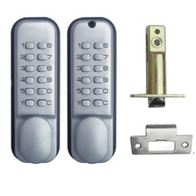 AJF High quality and security Mechanical push button outdoor keypad code door lock