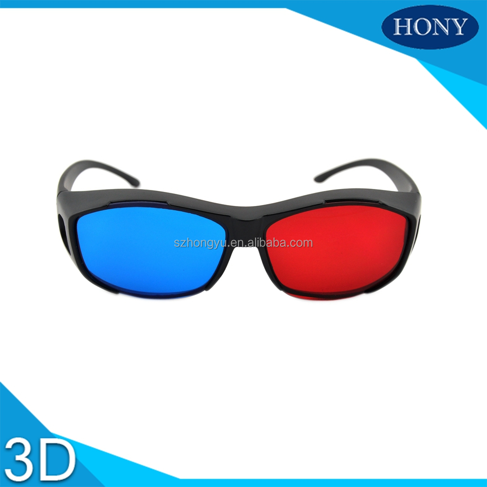 Plastic Red Cyan 3D Glasses Red Blue Lenses For For Normal PC, 3D Books And 3D Magazines,Promotion Use