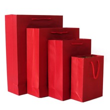 China recycled printed paper shopping bags supplier