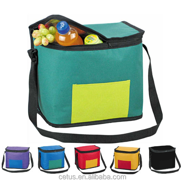 Promotional insulated whole foods wine cooler bag with handles