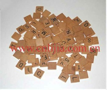 top quality wooden scrabble tiles / wood scrabble tiles