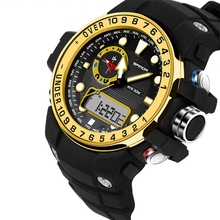 SANDA men's sport watches fashion LED digital military quality branded waterproof diving sport watch men