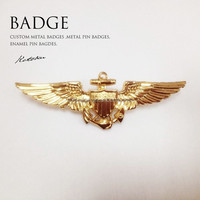 Custom metal pilot wings pin badge,Airplane lapel pin