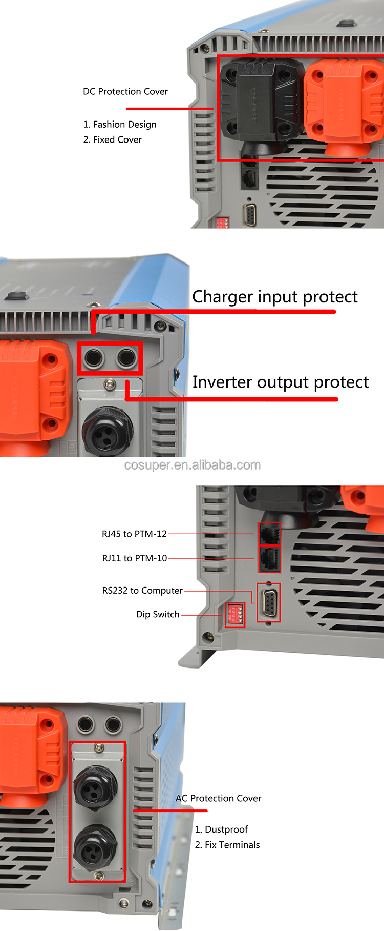 12 Volt Fan Inverter Servo Motor 1200 Watt Powerinverter