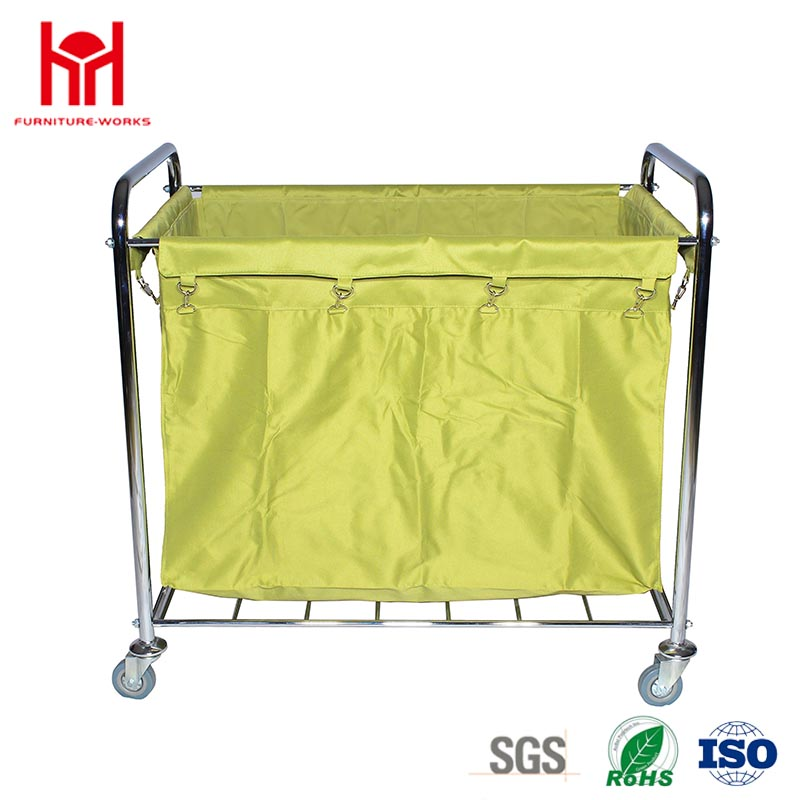 High-Capacity Long Square Type Laundry Trolley For Hotel Housekeeping