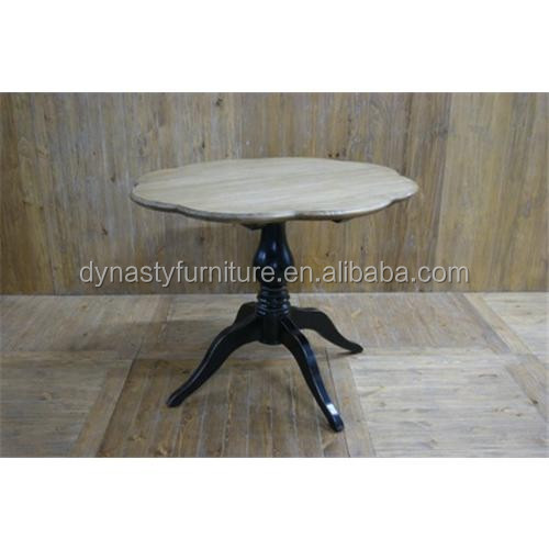 flawer shape french style wood dining table