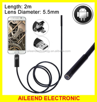 with 6 LED 2 in 1 Micro USB & USB Endoscope Waterproof Snake Tube Inspection Camera