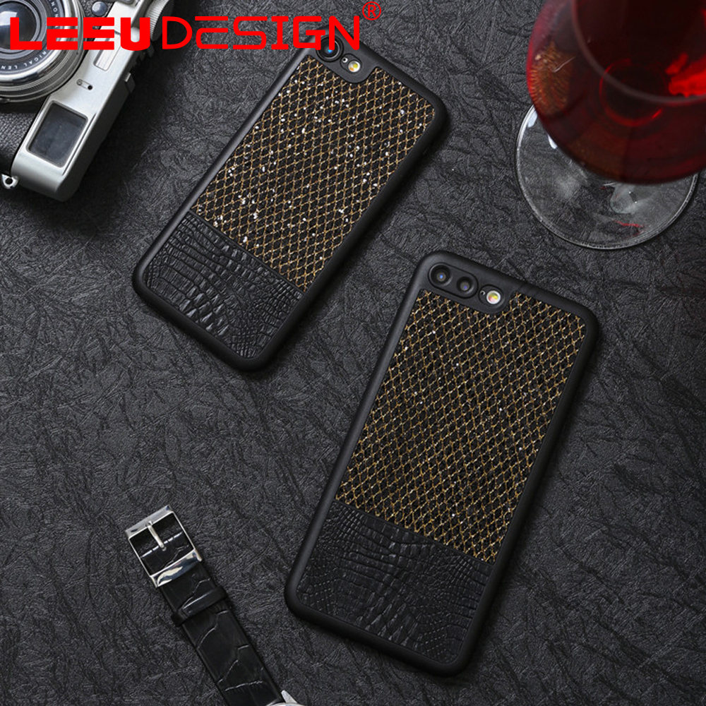360 degree protect fashion genuine jean leather phone case supplier for iphone 6 7 plus