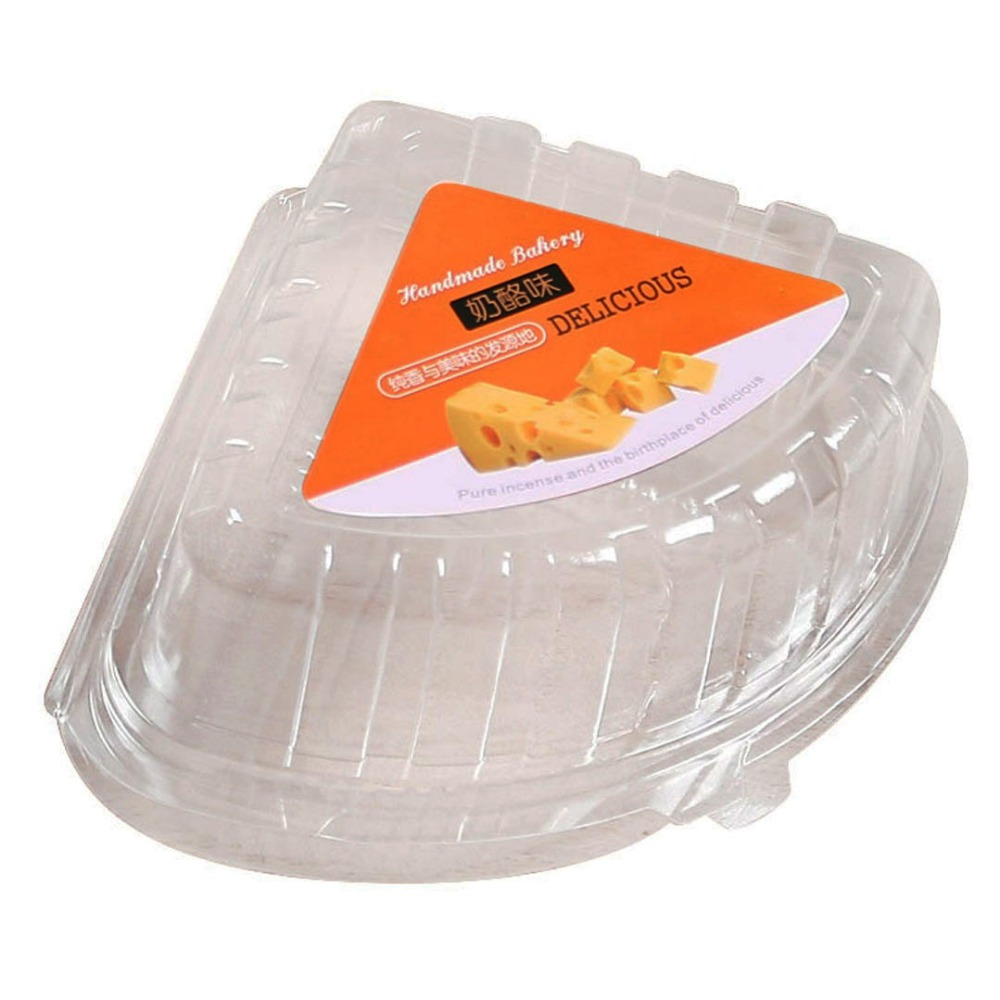 Thickened disposable plastic baking box clear plastic packing box for brie cheese boxes