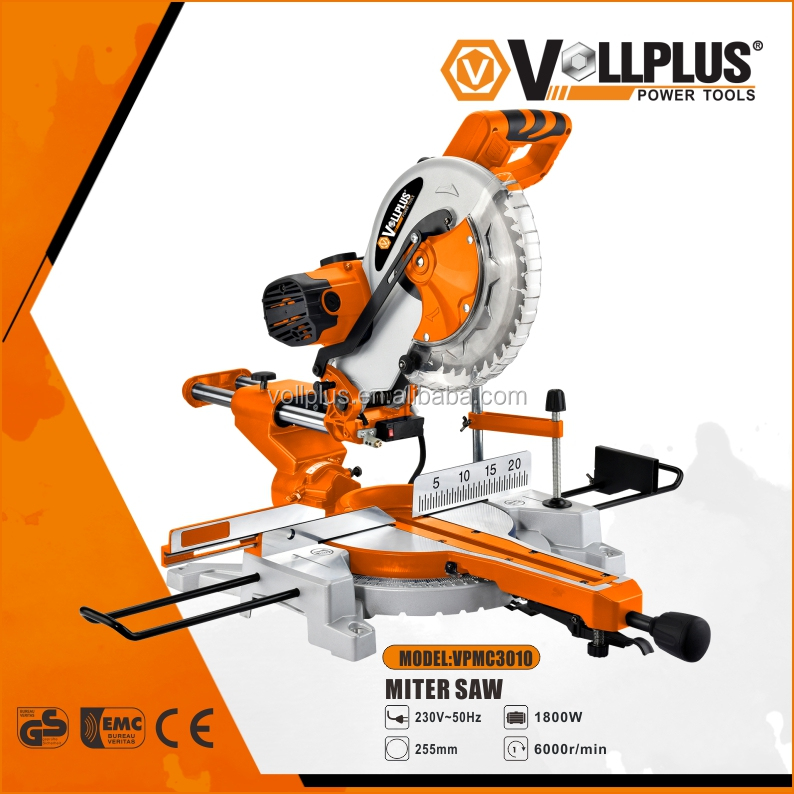 VOLLPLUS VPMS3010 1800W electric power tools 255mm sliding miter saw compound miter saw