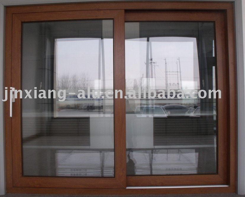 PVC sliding door(wood-grain)