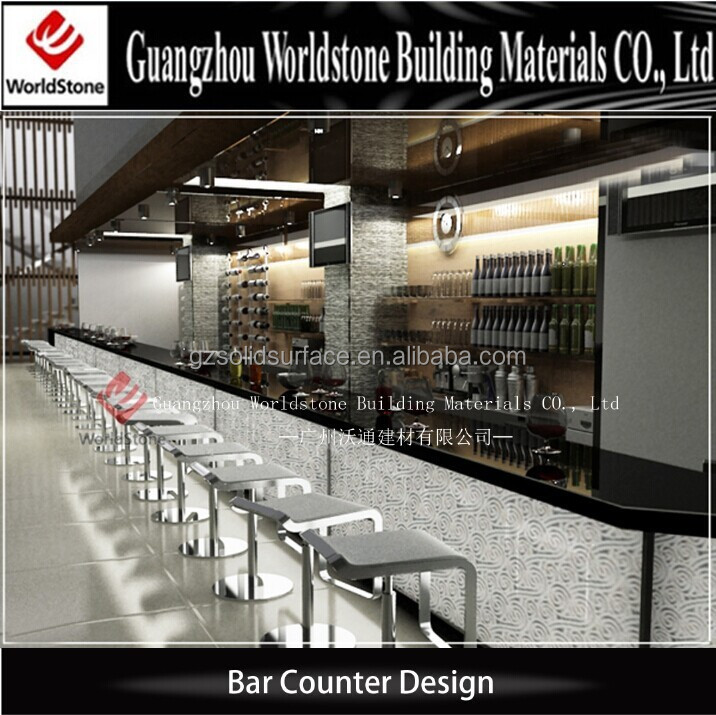 high top long restaurant bar counters for sale, wine bar