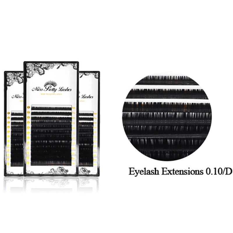 Russian Volume Eyelashes Extensions Individual Lashes PBT Synthetic Fiber