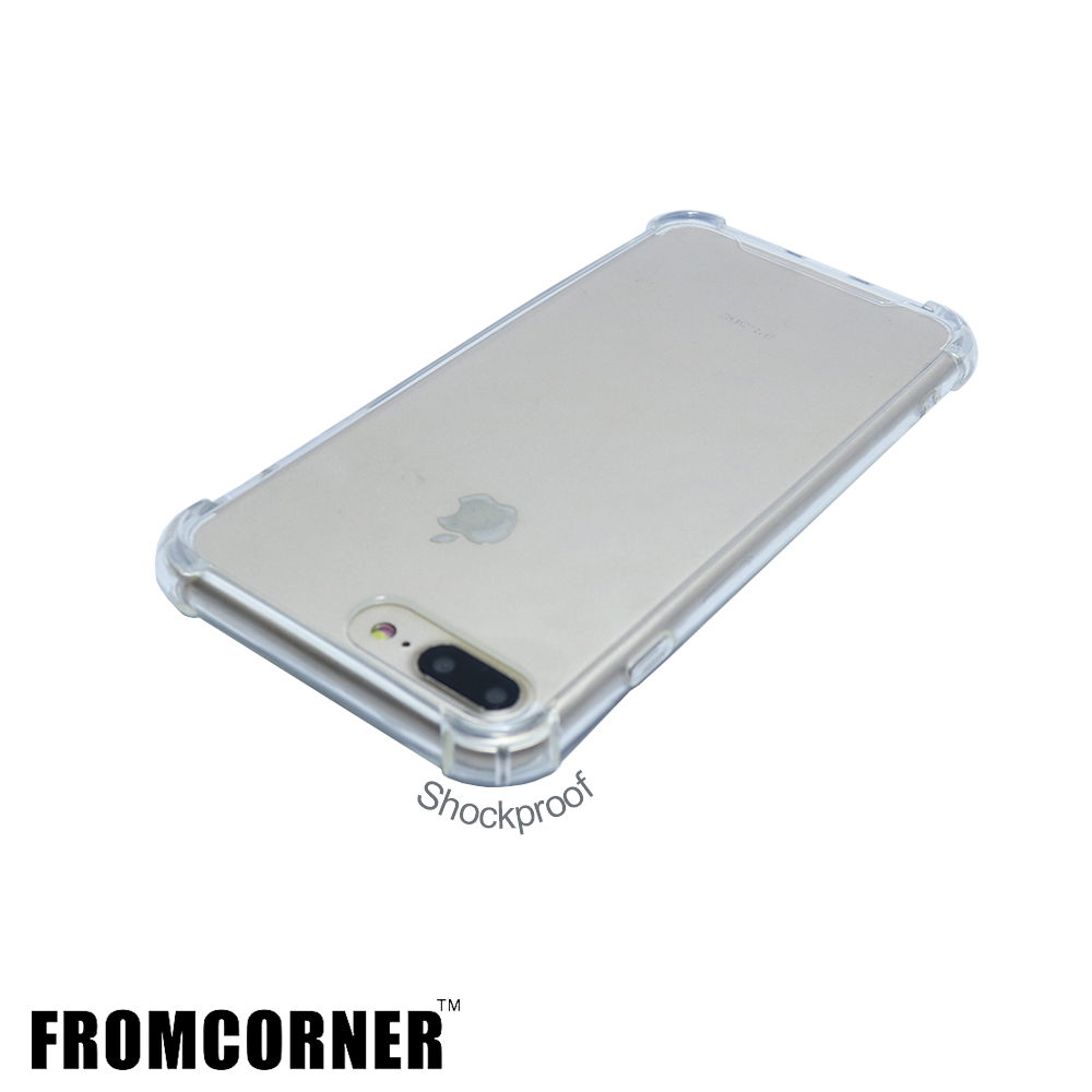 Factory free shipping wholesale corner thicken shockproof clear soft TPU protect cover phone case for <strong>iphone</strong> 7 plus 8 plus