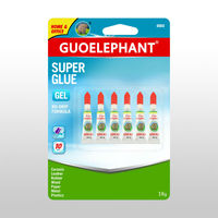 Hot sale guoelephant 3G 6TUBES FAST DRY GEL super GLUE