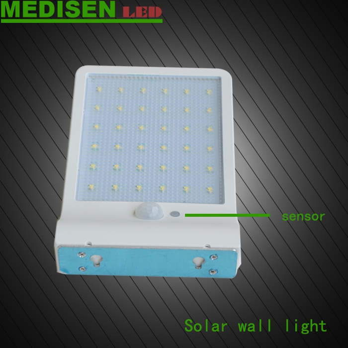 MEDISEN Solar light Stainless Steel Light Garden Solar Power Infrared Sensor 16 White LED Lamp Outdoor Courtyard Lawn Wall Light