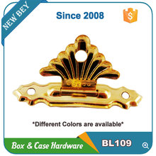 Promotional mini metal gold color wooden box accessories