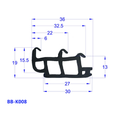 heat proof door seal rubber waterstop strip