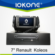 "factory 7"" HD Touch screen 2 din car dvd for renault koleos with TMC, camera, mic, dvb-t"