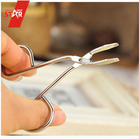 SCISSORS STYLE HAIR REMOVAL EYE BROW TWEEZERS Beautiful Design Stainlesss Steel