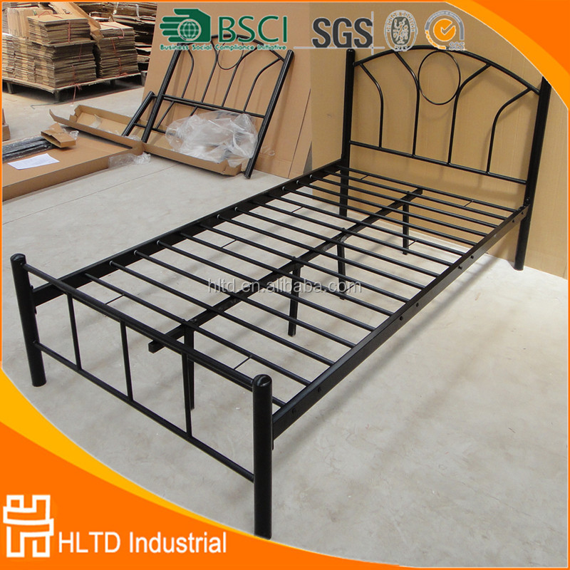 Chinese Furniture Double bed Design Black Metal Bed Frame