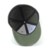 Army Green stretch fitted baseball cap with leather patch
