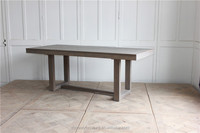 Europe natural antique rustic vintage furniture wooden kitchen room dining table