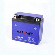 Haissky 12N9-BS 12v 9ah mf motorcycle battery for suzuki GS125 motorcycle battery