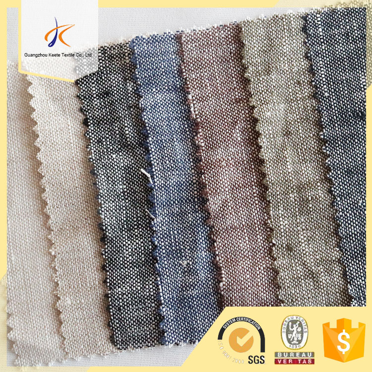 180gsm solid plain dyed plaid style 100% linen woven fabric for cushion cover/sofa/dress price cheap