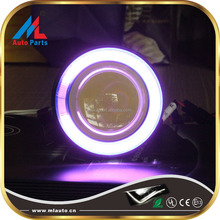 HD-07 cob round motorcycle led projector lens with angel eyes headlights,devil eyes headlight