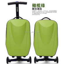 Travelling abs PC Electrical luggage scooter case bags factory price for men, lady and kids with cute printing