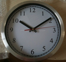 25cm Aluminum round wall clock,wall clock china,time clock