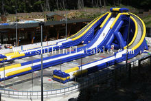 gian inflatable tripple waster slide / giant inflatable trippo water slide