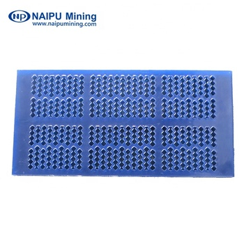 Polyurethane screen panels and plates for vibrating screens for ore dressing process