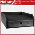 NAHAM Office Decor PVC Leather Cabinet File Drawer Tray