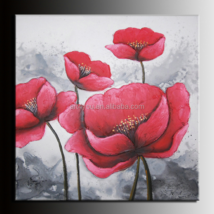 Canvas Flower Painting For Decoration 24543