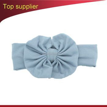 Kids Bow Hairband cheap custom label Headband Baby Girl Stretch Cotton hair accessories