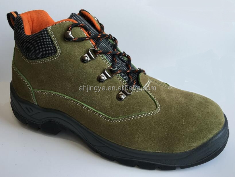 JY-031 PPE steel suede leather trojan womens safety shoes