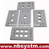 1 2 3 4 6 ports Face Plate, size:70x115mm